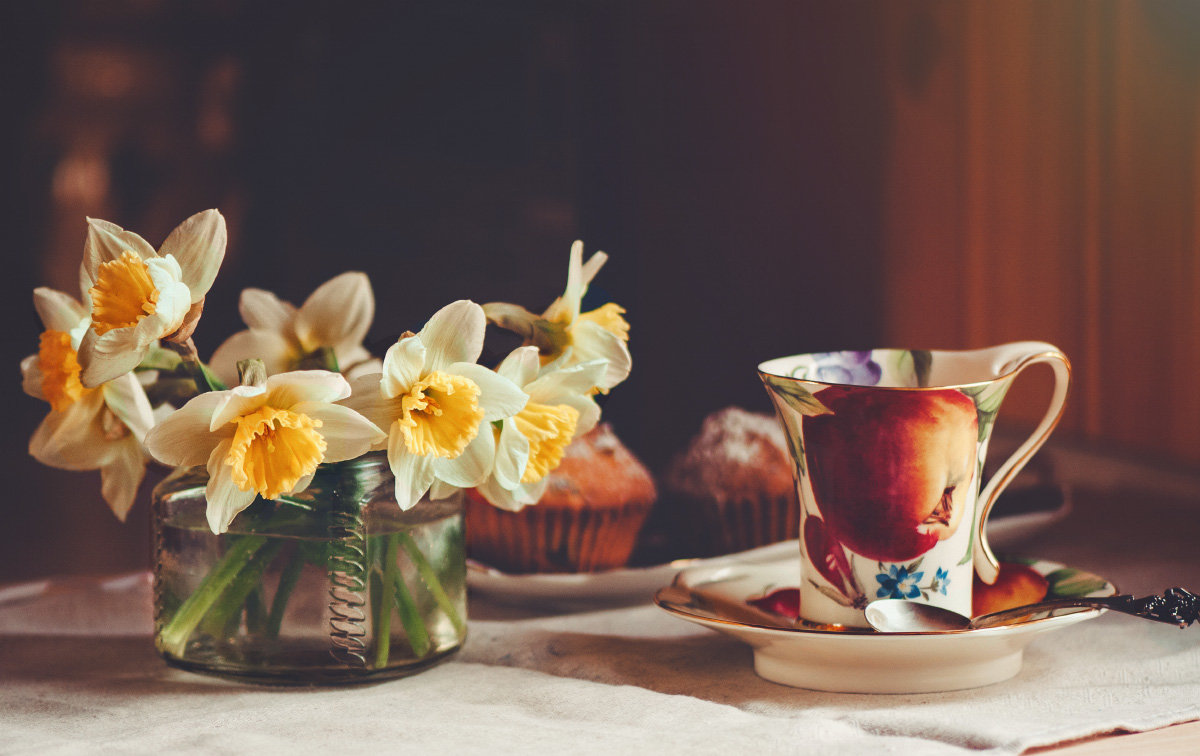 Нарциссов желтых солнечный букет - Larissa