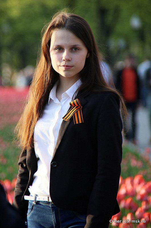 образ девушки с георгиевским бантом - Олег Лукьянов
