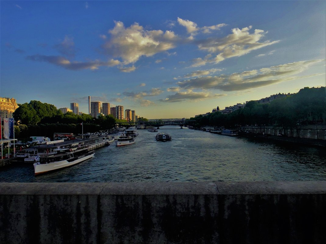 Вид на вечернею Сену... - Sergey Gordoff