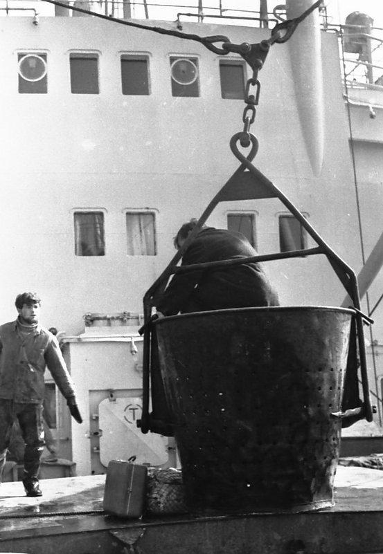 """Плавбаза """"Ледус""""РБРФ,1970 год,Атлантический океан - Иволий Щёголев"""