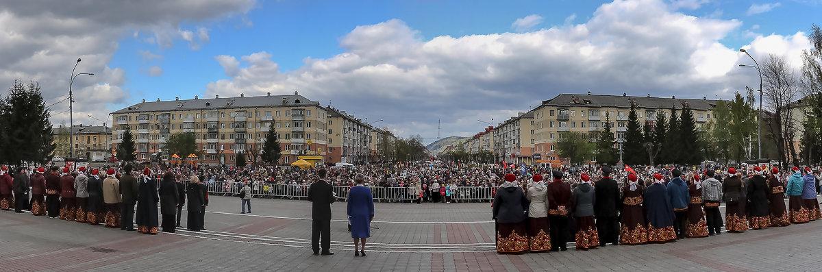 """Панорама """"Бессмертный полк"""" - Евгений Голубев"""
