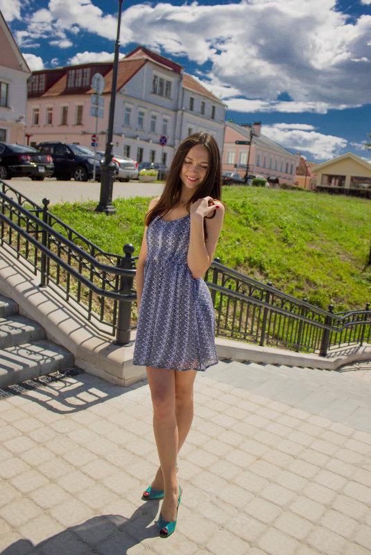 Летний потрет. Девушка в полный рост. :: Aleksandra ... Девушка в Полный Рост в Платье