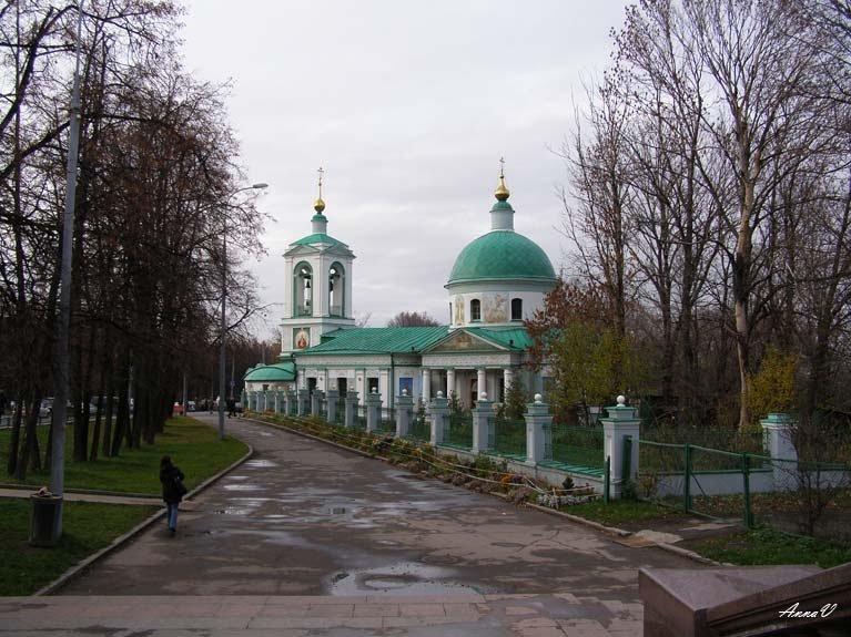 Храм Троицы Живоначальной в Воробьеве 1877г - Анна Воробьева