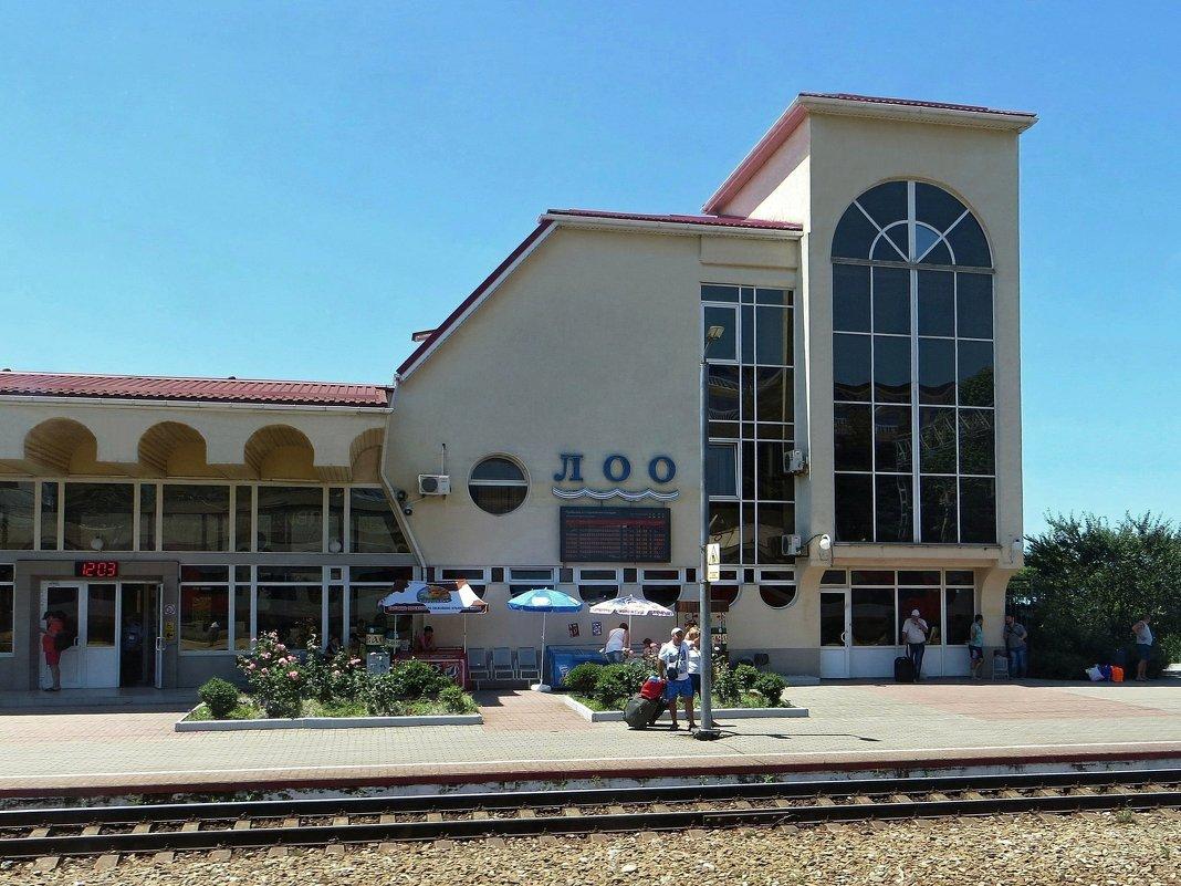 Станция Лоо Лазаревского района города Сочи. Снято из окна поезда - Татьяна Смоляниченко