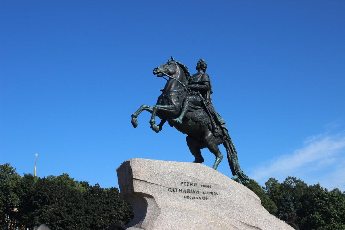 Памятник петру 1 как сделали 956