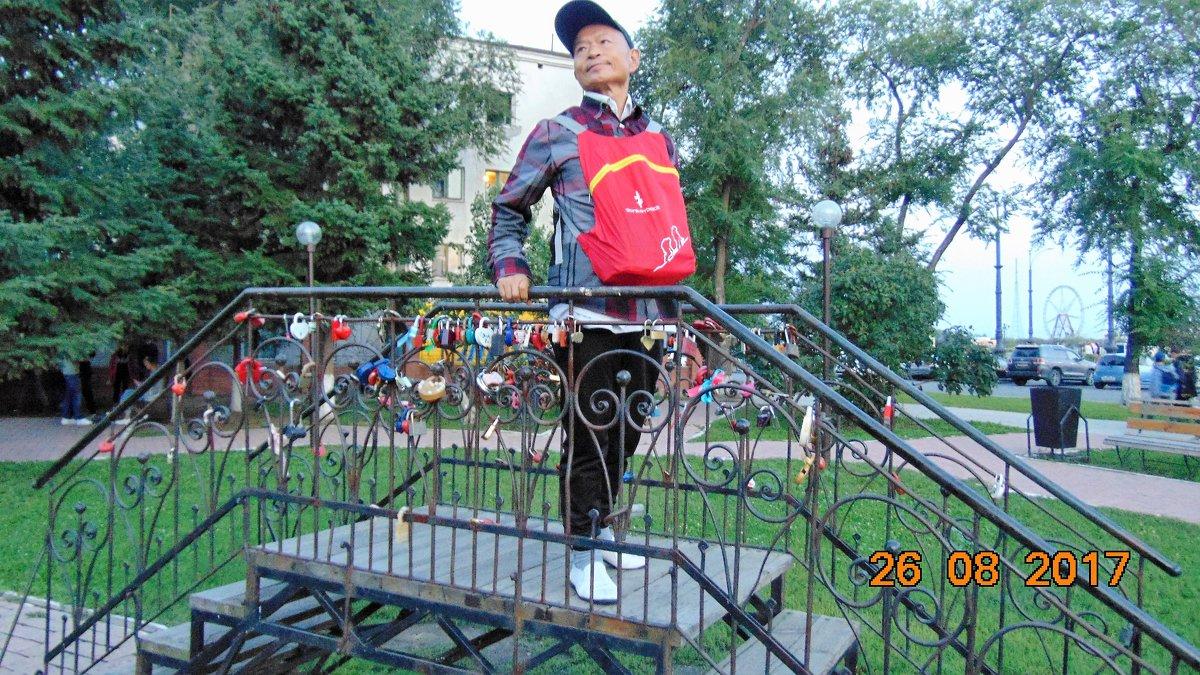 Турист из Пекина в России. - Вера