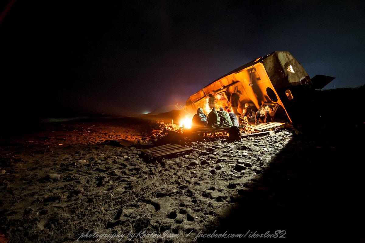 ночь на берегу Охотского моря. Камчатка - Ivan Kozlov
