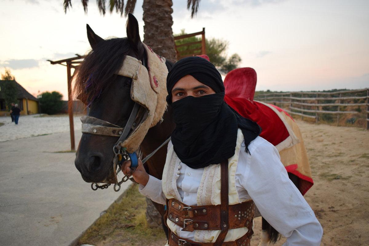 Араб с лошадью - Елена Науменко