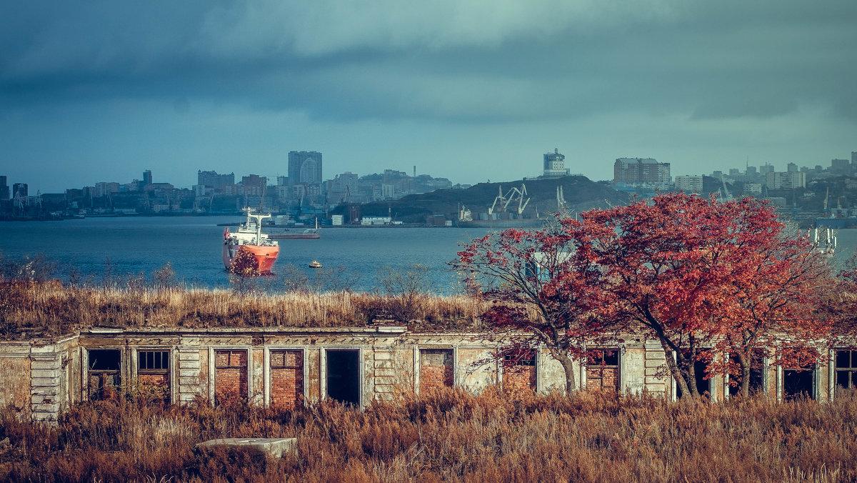 Владивосток, вид на город с острова Русский - Эдуард Куклин