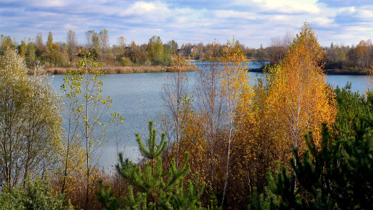 осень на озере - Александр Прокудин