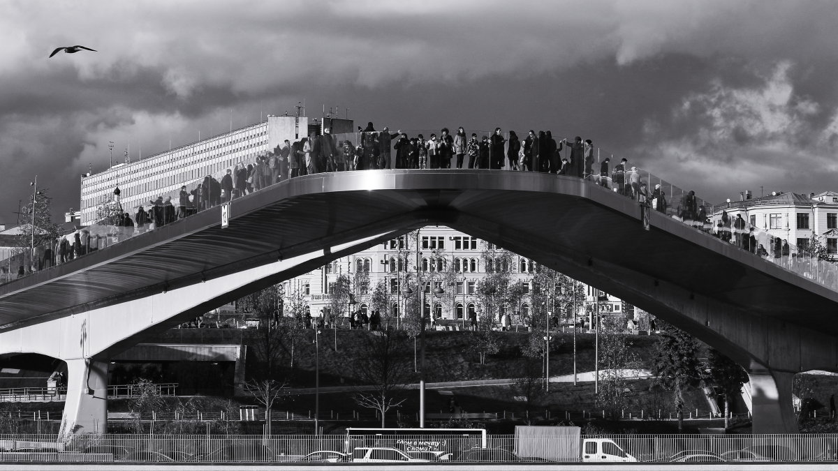 Парящий мост в Зарядье. - Николай Кондаков