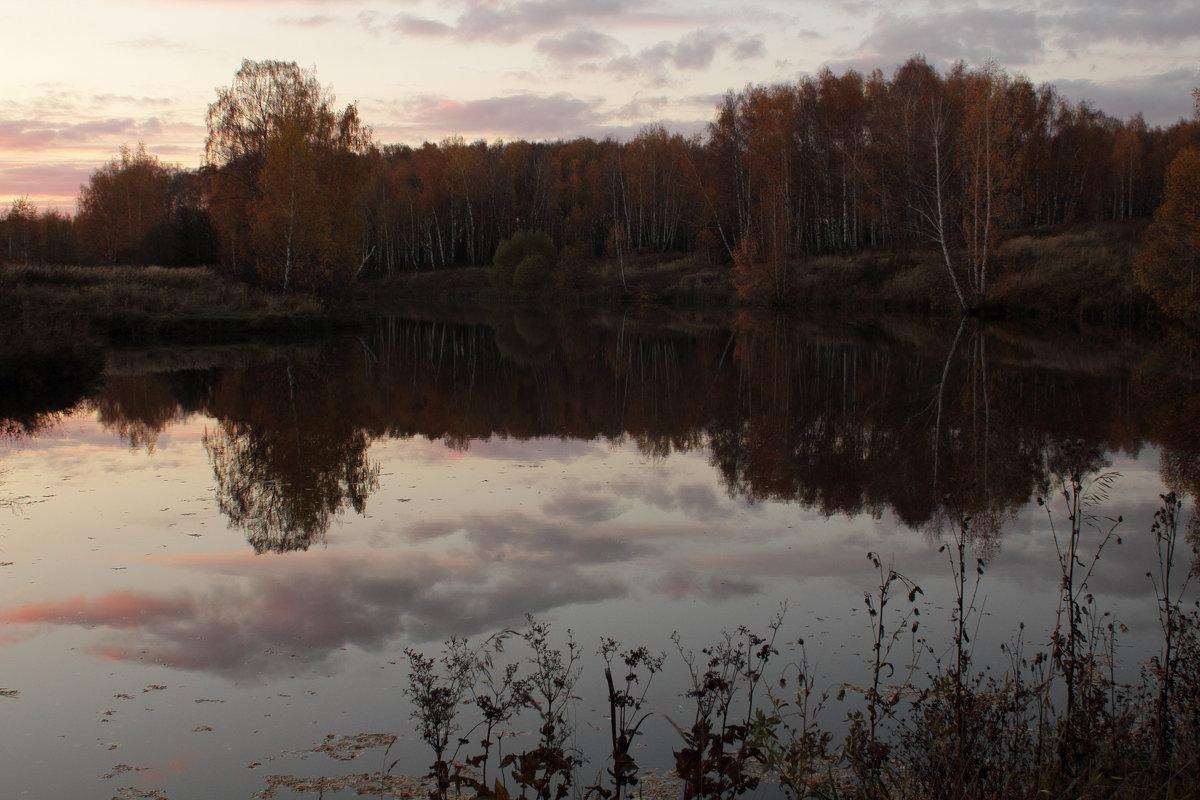 Вечер.Озеро.Закат - Ольга Анянова