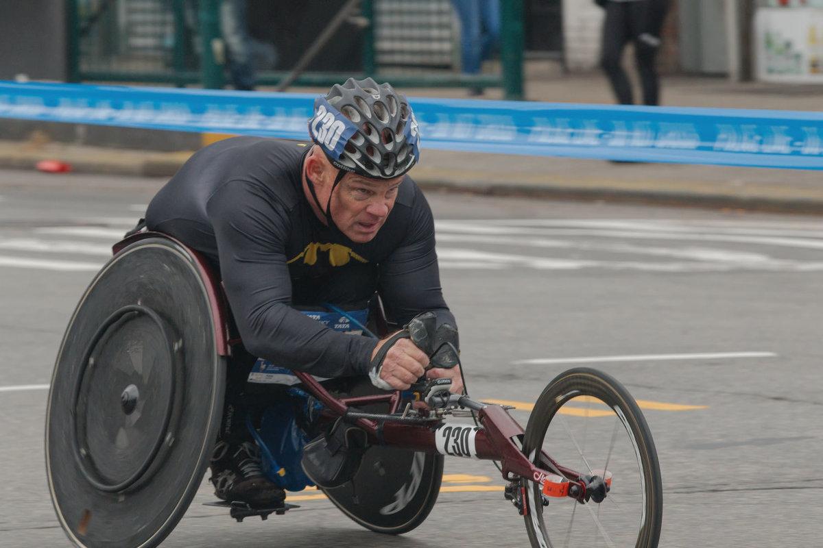 Нью-Йорксий марафон 2017. Паралимпийцы 11 - Олег Чемоданов