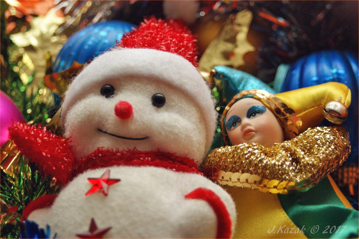 Снеговик и Арлекин. - Елена Kазак