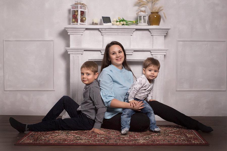 Мама с сыновьями - Екатерина Волк