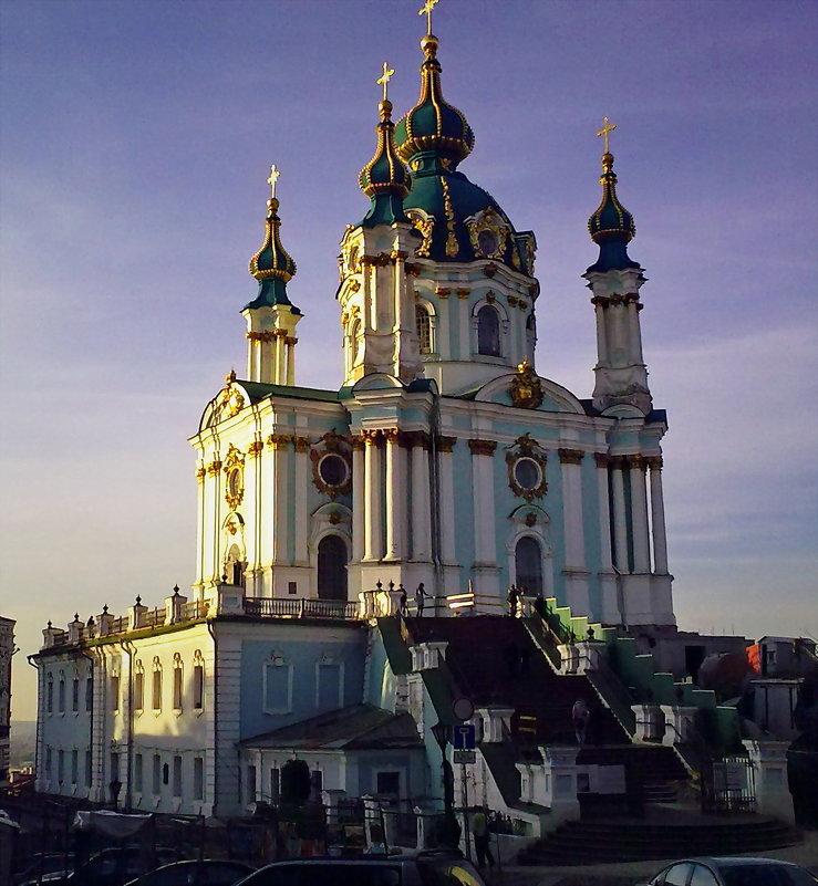 Осень. Андреевская  церковь - Владимир Бровко