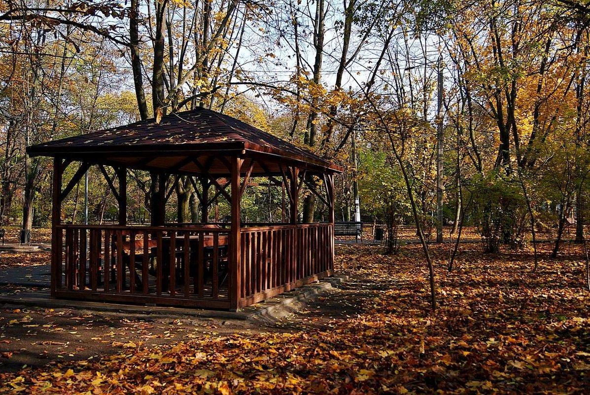 беседка в парке - Александр Корчемный