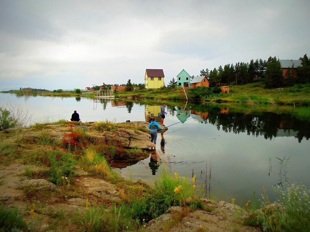 Утренняя рыбалка . - Мила Бовкун