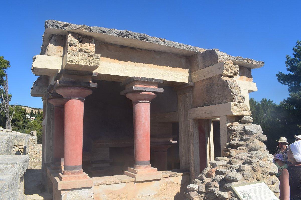 Развалины Минойского дворца Греция. - Андрей