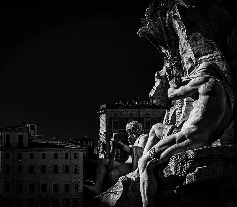 фонтан Четырех рек, площадь Навона,Рим. - Олег Семенов