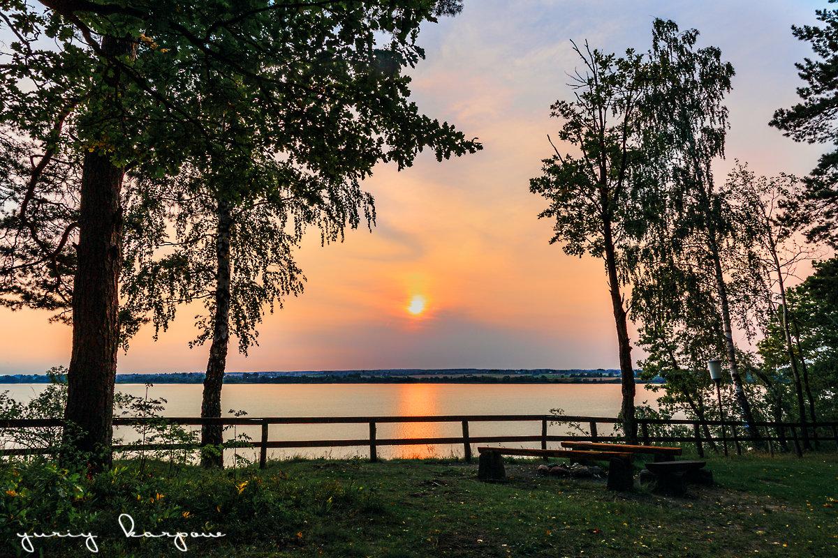 закат на озере - юрий карпов
