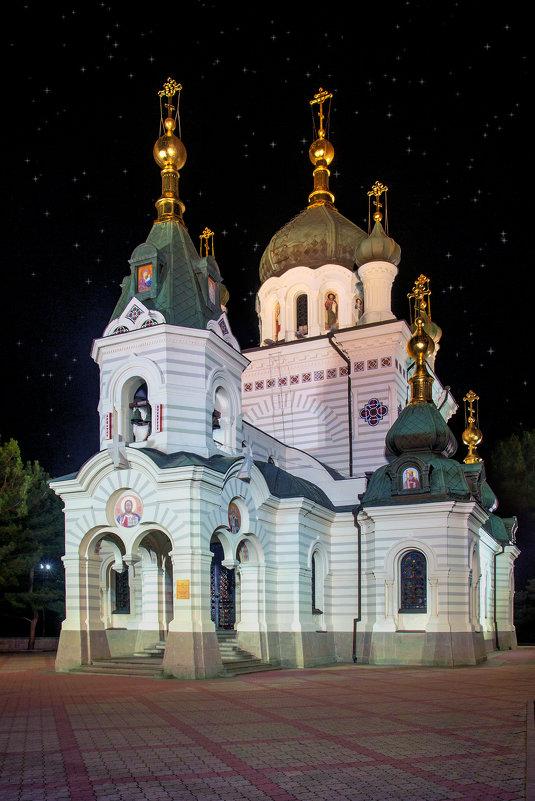 Форосская церковь. Ночь.Крым. - Анна Пугач