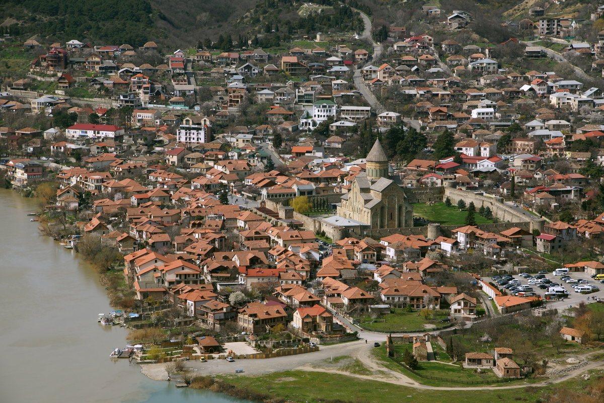 Монастырь Джвари....Мцхета-Грузия...река Кура и Арагви - Юрий Яньков