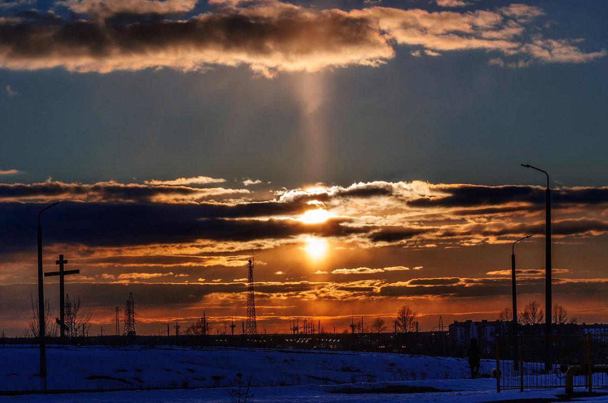 Холодный мартовский закат На горизонте догорал... - Анатолий Клепешнёв