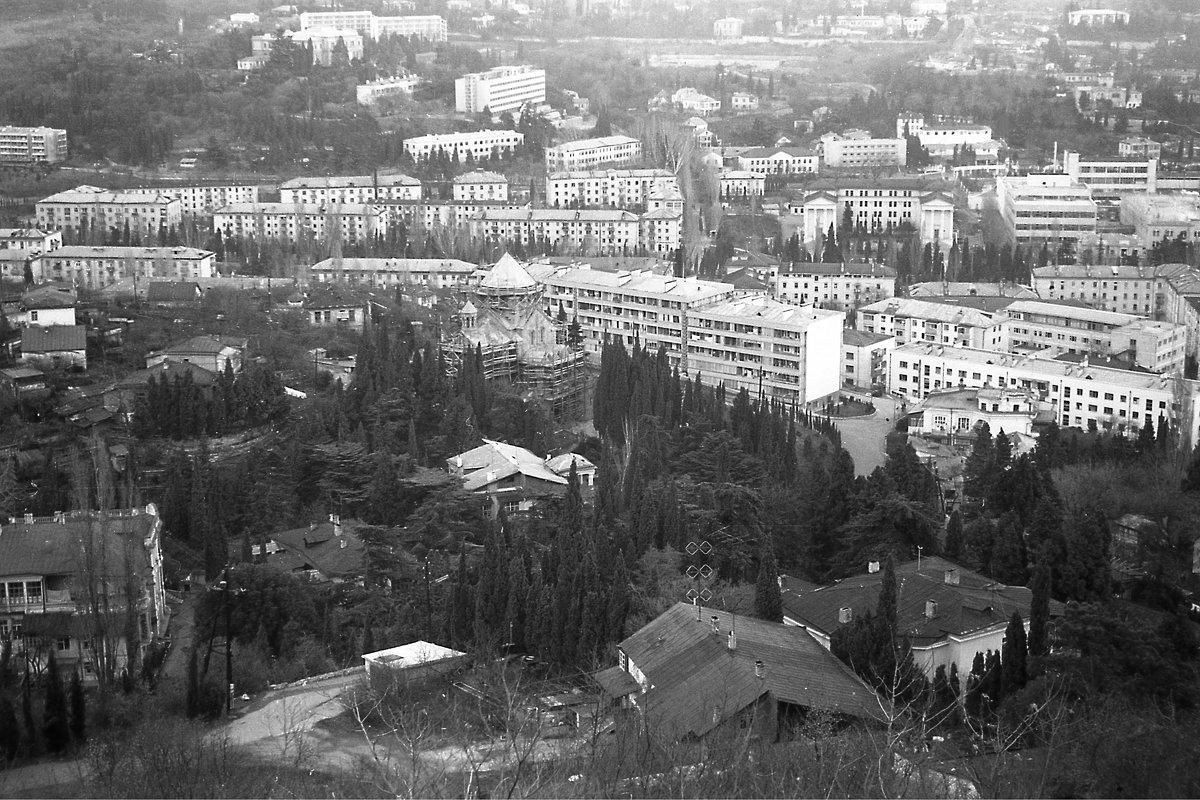 Ялта. Вид с горы. 1974 год - alek48s