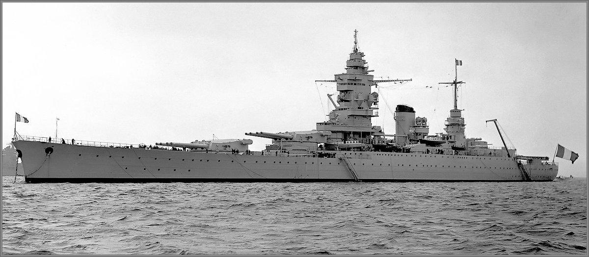 """French battlecruiser,fast battleship"""" Dunkerque"""", Spithead, May 1937. - Александр"""