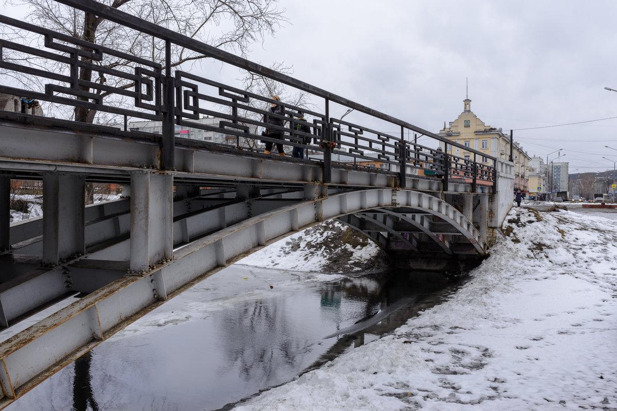 Пешеходный мост через реку Аба - Валерий Михмель