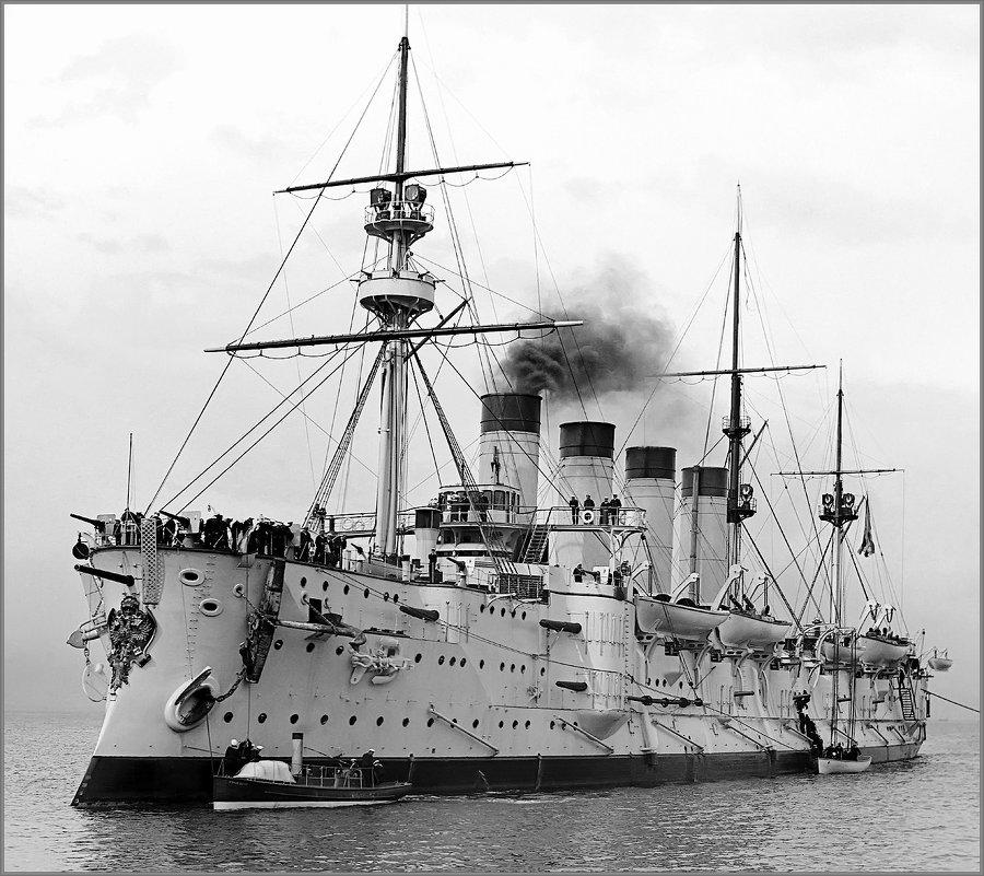 броненосный крейсер Громобой . Австралия , 1904 год. - Александр