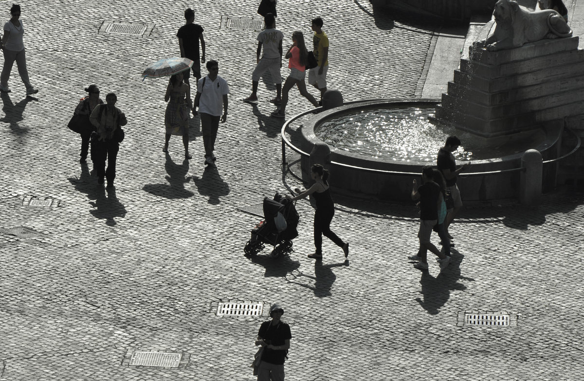 Рим. Площадь у виллы Боргезе. Rome. Area of the Villa Borghese. - Юрий Воронов