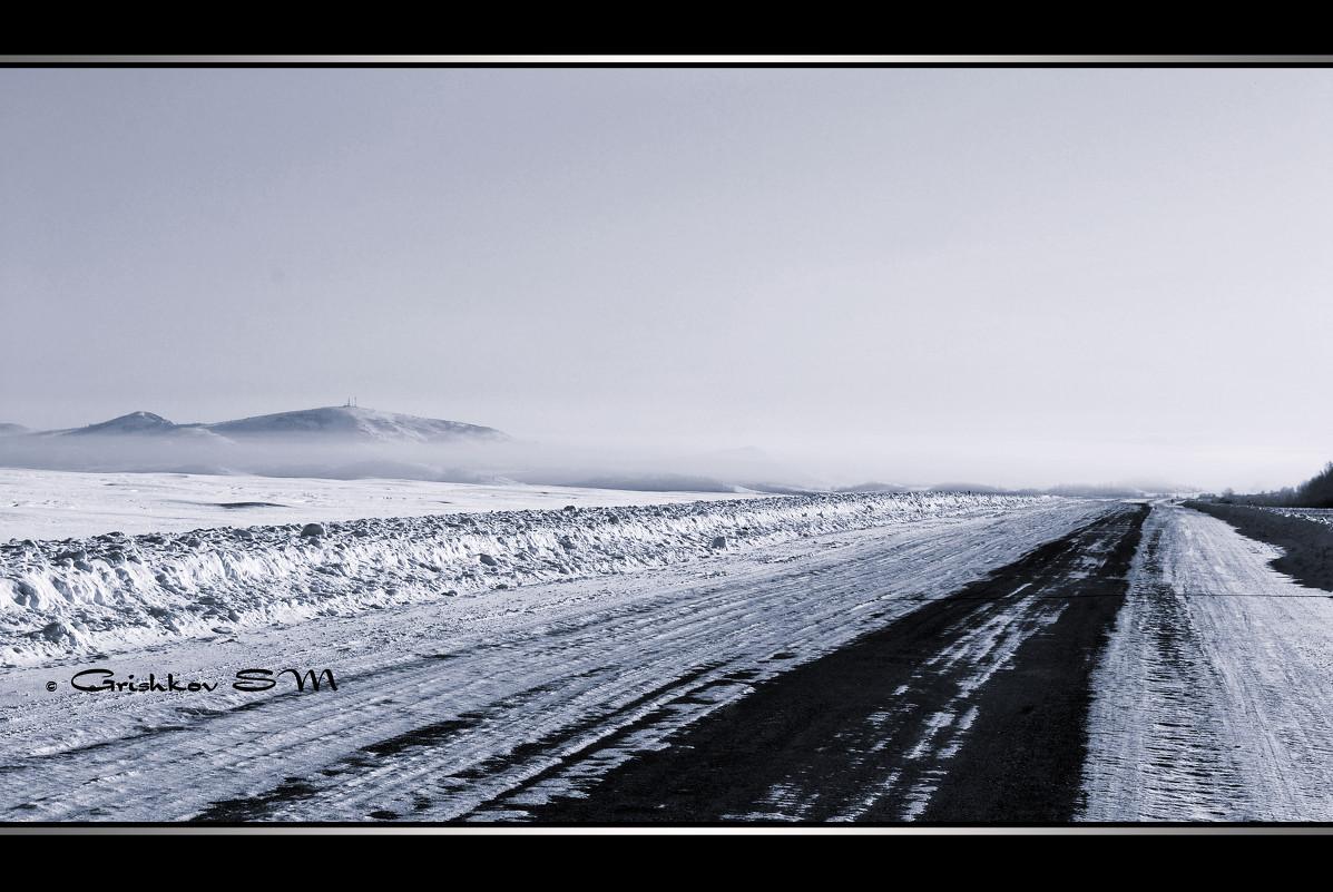 Сопки по зимней дороге в Змеиногорск - Grishkov S.M.