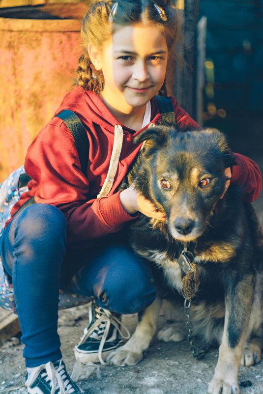 Ребёнок с собакой - Александр Семен