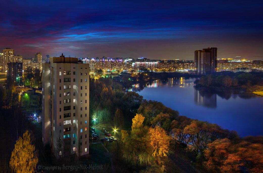 Вечерняя городская панорама - Sergey-Nik-Melnik Fotosfera-Minsk