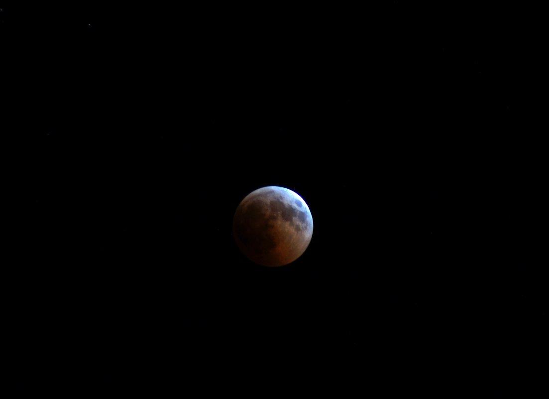 Лунное затмение.  27.7. 18г. 22ч. 40м. - Алексей Golovchenko