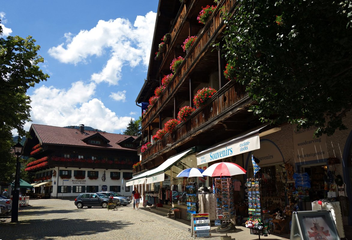 Сказочная деревушка -Обераммергау, Бавария... - Galina Dzubina