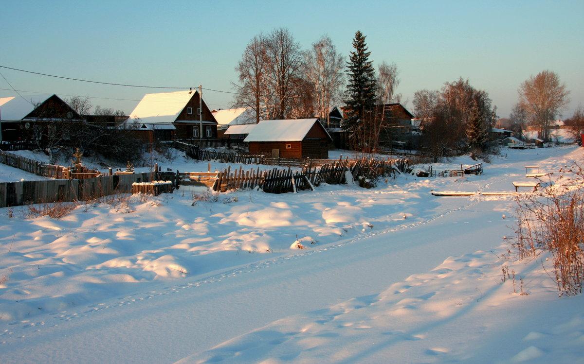 Зима на Заречной улице...