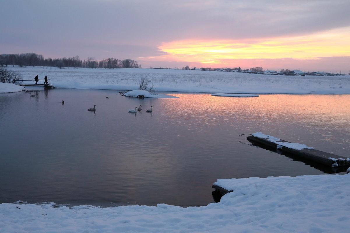 Зимний закат. - владимир