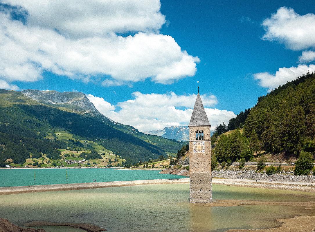 Озеро Резия, колокольня Грауна (Италия) - Алексей Кошелев