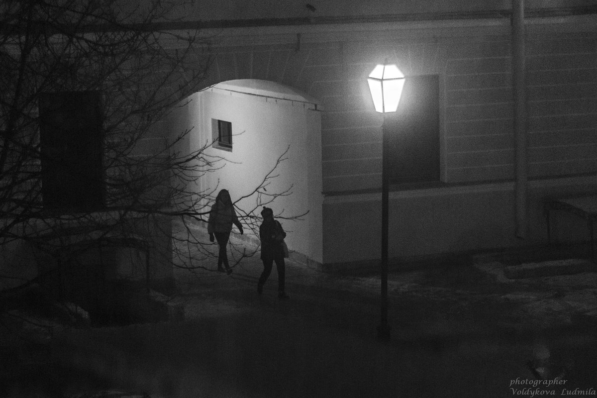 Петербург, вечер, фонари - Людмила Волдыкова