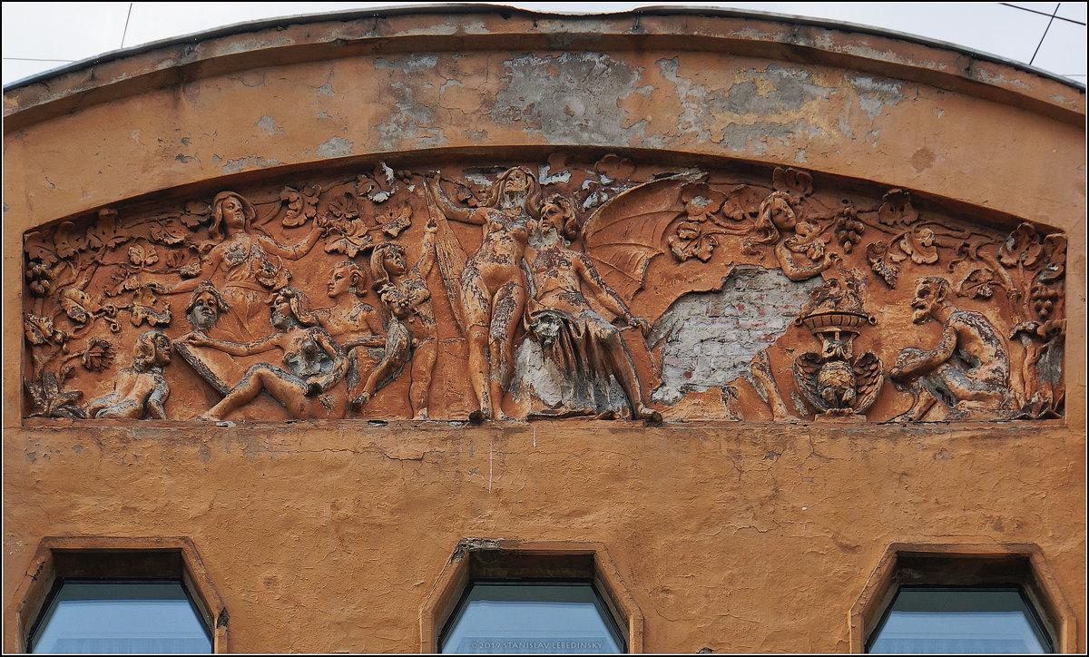 My magic Petersburg_03364_Лепнина на фасаде д.54, по ул. Маяковского_1 - Станислав Лебединский