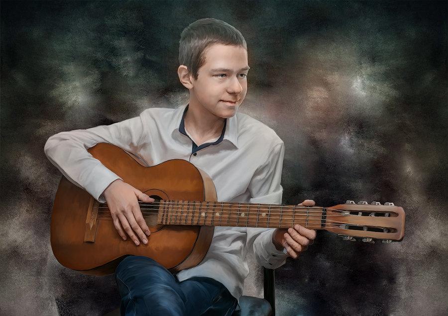 Гитарист. - Евгений Тайдаков