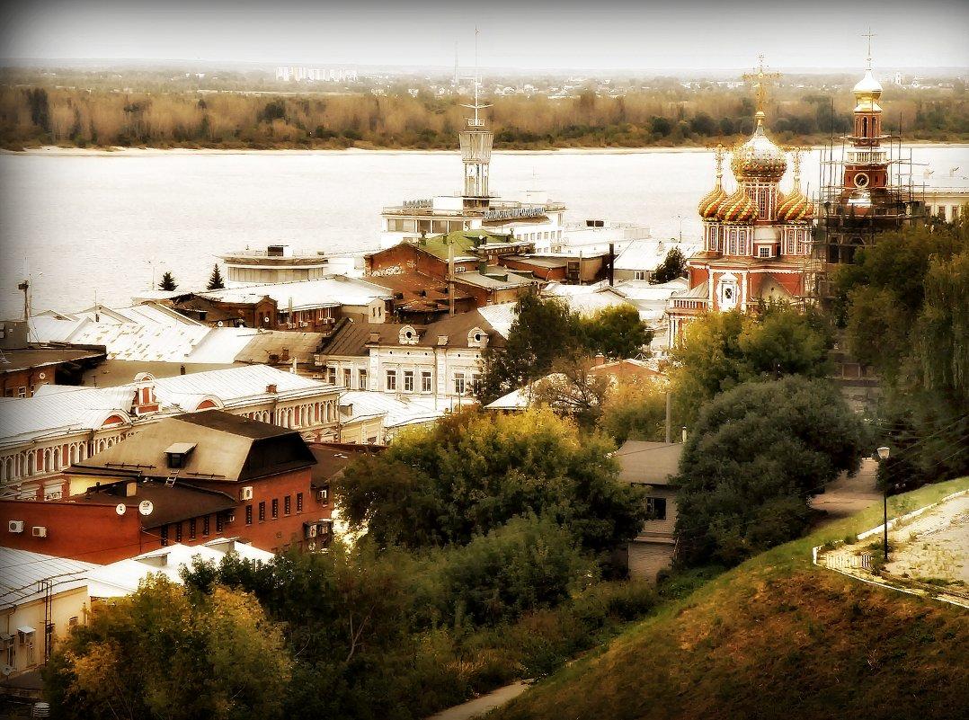 """Из серии: """"Виды Нижнего Новгорода с Окского высокогорья.."""" - Андрей Головкин"""