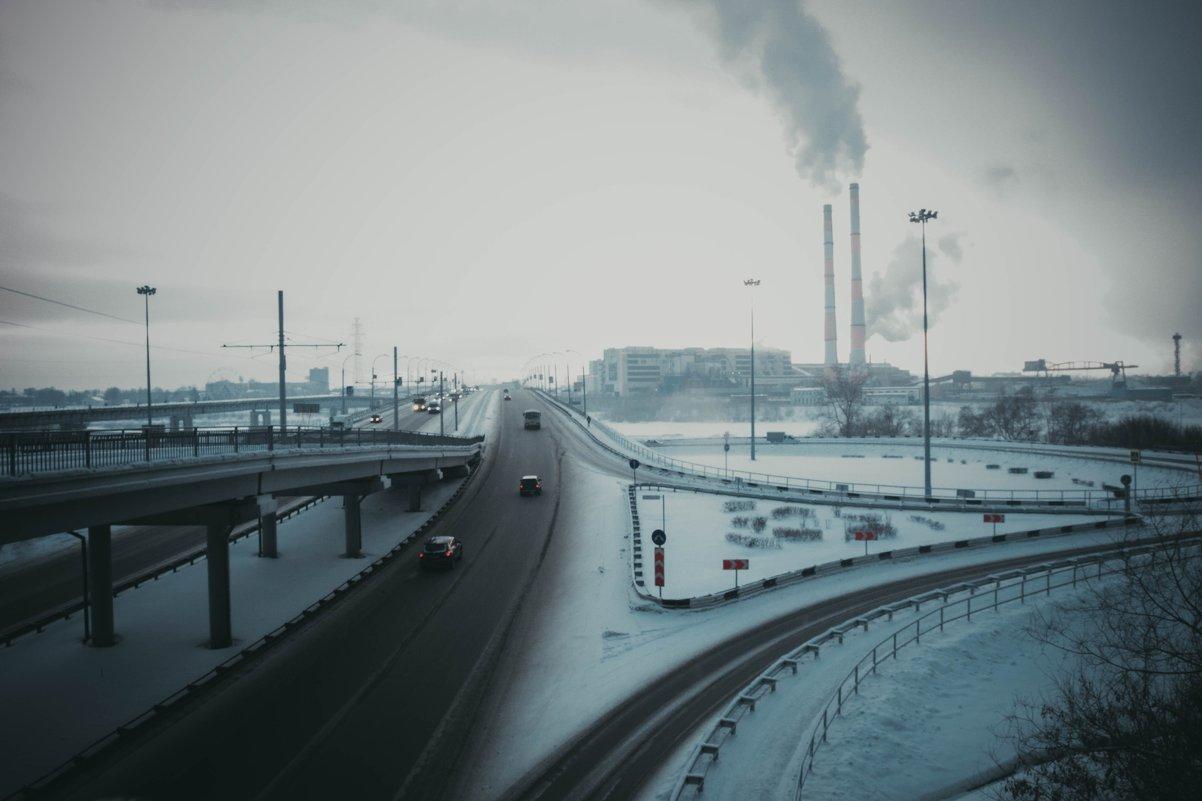 Декабрьский Кемерово - под пыльным небом