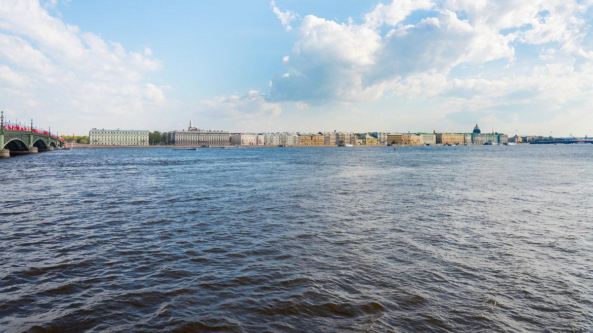 Санкт-Петербург. Виды с набережной Невы. - Владимир Лазарев