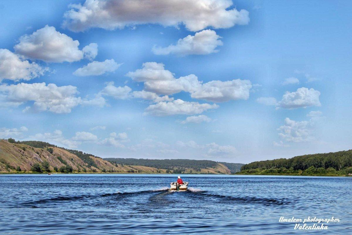 река Томь июль - Валентина Ильиных