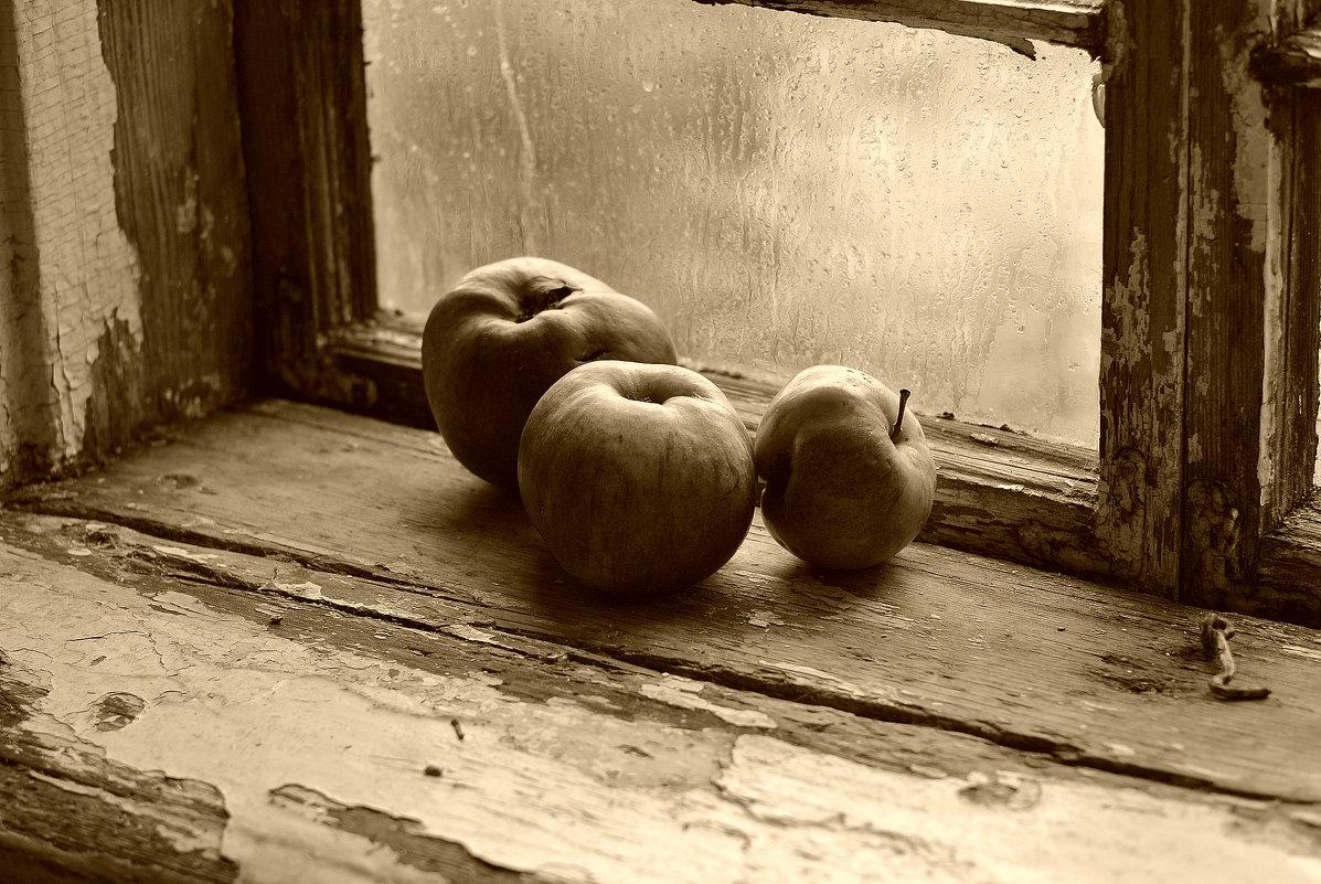 Натюрморт с яблоками. - Эника.