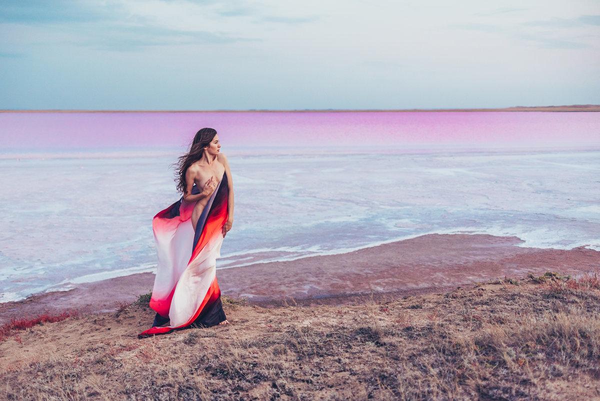 На берегу розового озера Кобейтуз - Александр (sanchosss) Филипенко